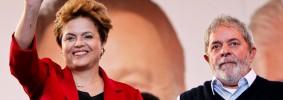 Ao lado do presidente Lula, Dilma Rousseff participou de comício em Curitiba