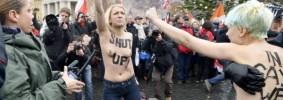 PAPA: DONNE FEMEN PROTESTANO A SENO NUDO IN PIAZZA S.PIETRO
