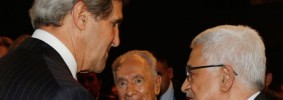John Kerry, Shimon Peres and Mahmoud Abbas