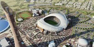 Le-Qatar-presente-son-stade-entierement-climatise