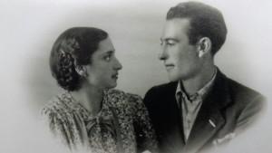 Francesco Mancini con la moglie